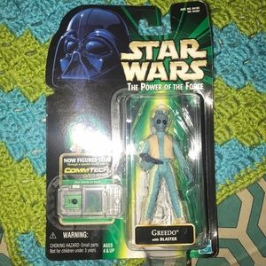 Star Wars the power of the force Greedo figure